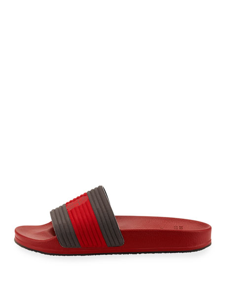 Striped Slide Sandal