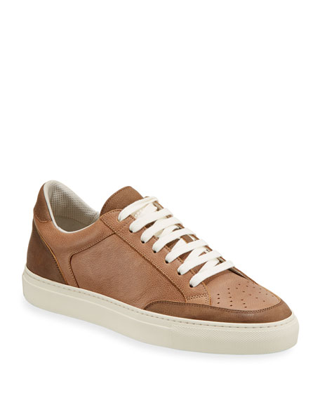 Brunello Cucinelli Colorblock Leather Low-Top Sneaker