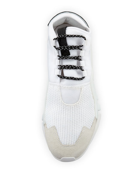 Men's Ayero Leather & Mesh Sneakers, White