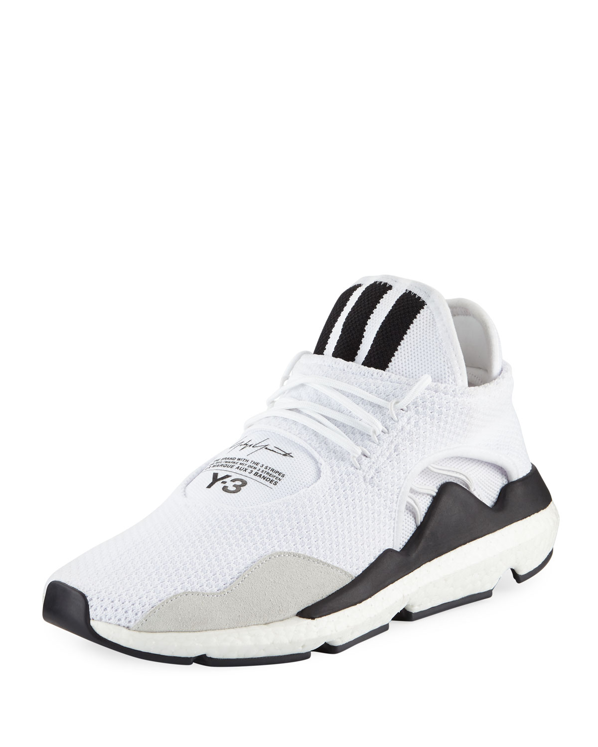 cheaper a1048 ef15d Y-3Mens Saikou Boost Prime-Knit Sneakers