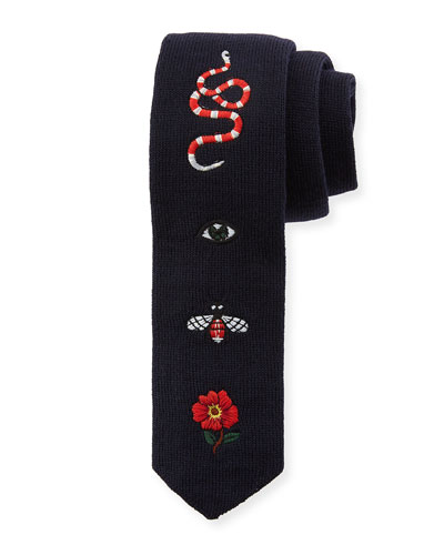 Mix Patches Wool Tie