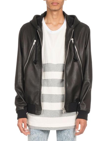 Maison Margiela Hooded Leather Jacket