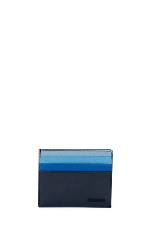 Prada Multicolor Saffiano Leather Card Case