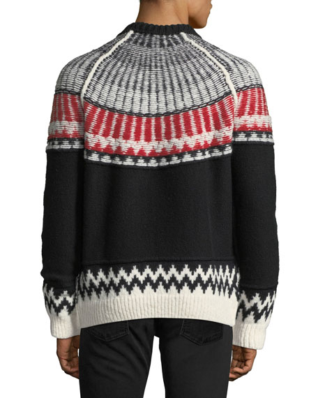 Reverse Fair Isle Cashmere Sweater