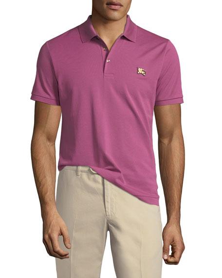 Burberry Piqué Knit Polo Shirt