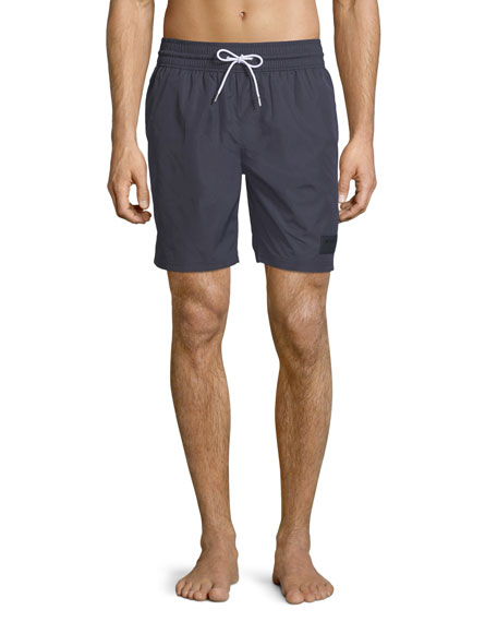 Burberry Solid Guildes Swim Trunks