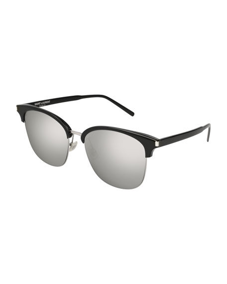 Saint Laurent SL 201 Half-Rim Sunglasses