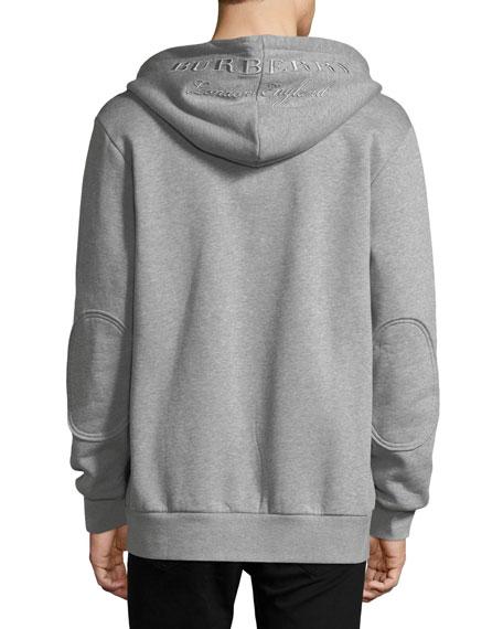 Logo-Hood Zip-Front Hoodie