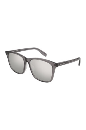 Saint Laurent Universal Fit Slim Mirrored Sunglasses