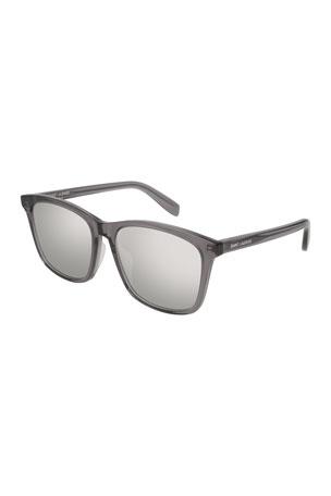 Saint Laurent Universal Fit Slim Mirrored Sunglasses