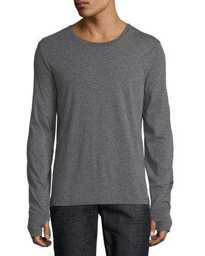 Marchston Logo Sleeve T-Shirt, Medium Gray