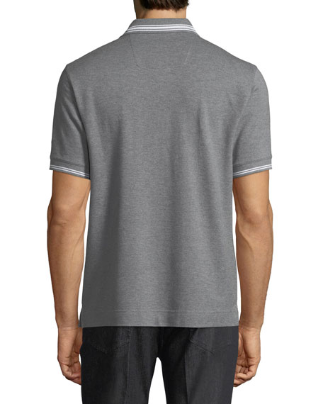 Pique Polo Shirt with Iconic Flag Logo