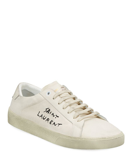 Court Classic low-top canvas trainers Saint Laurent MNDFdYdM
