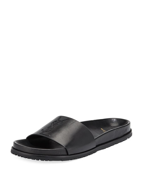 Saint Laurent Men's Jimmy 20 YSL Slide Sandal