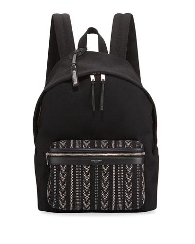 Men's Nylon Backpack w/ Ikat Pocket