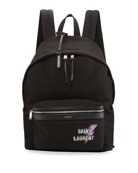 Saint Laurent Men's YSL Nylon Backpack