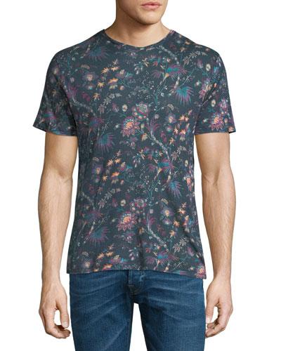 Floral Linen T-Shirt