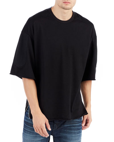 Side-Zip Street Varsity T-Shirt