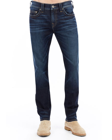 True Religion Rocco Slim-Straight Denim Jeans, Dark Indigo