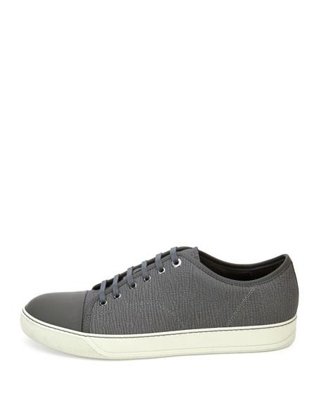 Men's Textured Leather Low-Top Sneakers