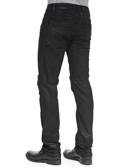 Motard Wax-Coated Jeans