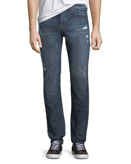 Rocco Distressed Skinny Jeans, Dark Wash