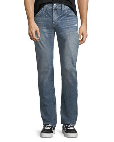 Geno Flap-Pocket Straight-Leg Jeans