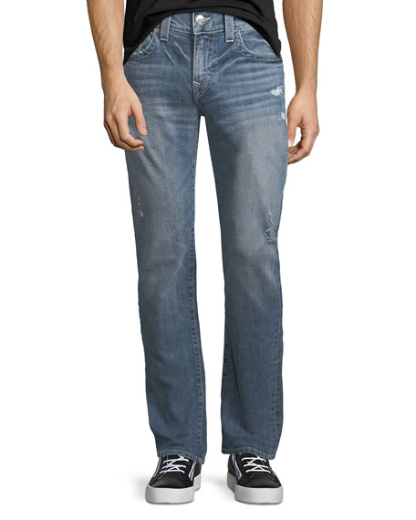 Geno Flap-Pocket Straight-Leg Jeans