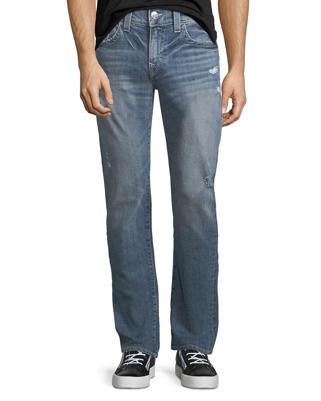 97b55dd70a5 True Religion Geno Flap-Pocket Straight-Leg Jeans
