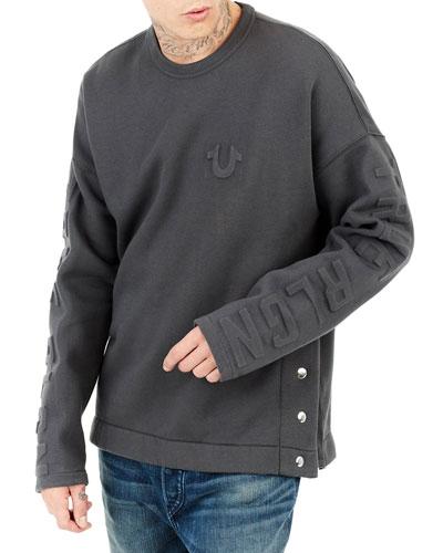 Oversized Fleece Knit Sweater