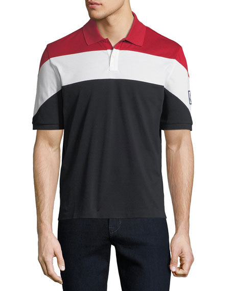 Moncler Gamme Bleu Men's Maglia Colorblock Polo Shirt