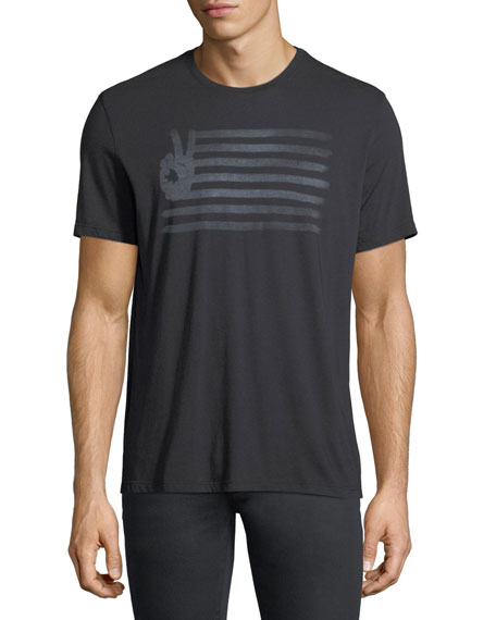John Varvatos Star USA Peace Flag Graphic T-Shirt
