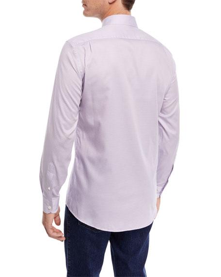 Small Dot-Print Sport Shirt