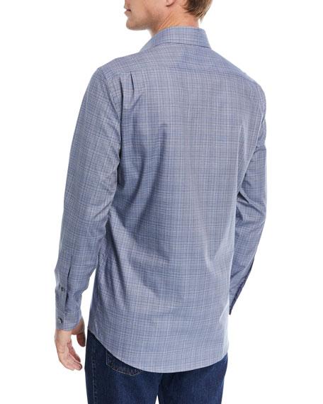 Fine Line-Print Sport Shirt