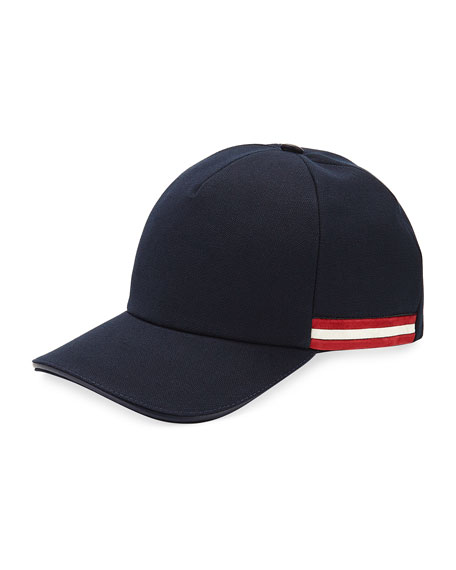 Bally Baseball Hat with Trainspotting Striped Trim