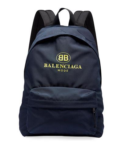 Men's Double-B Logo Backpack