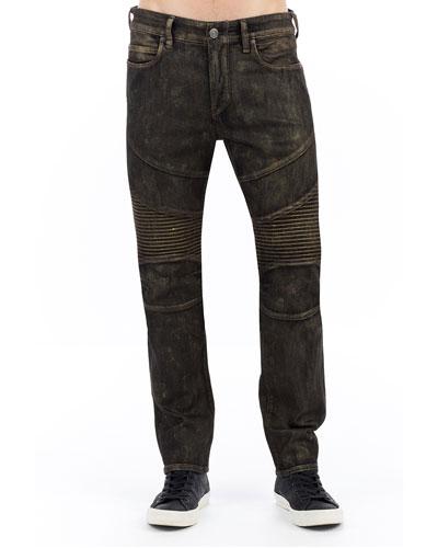 Rocco Moto Jeans w/ Golden Details