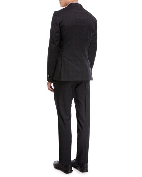 Drop 8 Subtle Check Two-Piece Wool Suit