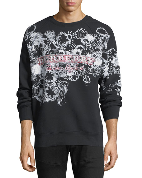 Burberry Squiggles Logo Sweatshirt