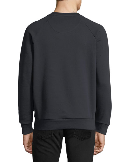 Tartan-Front Sweatshirt
