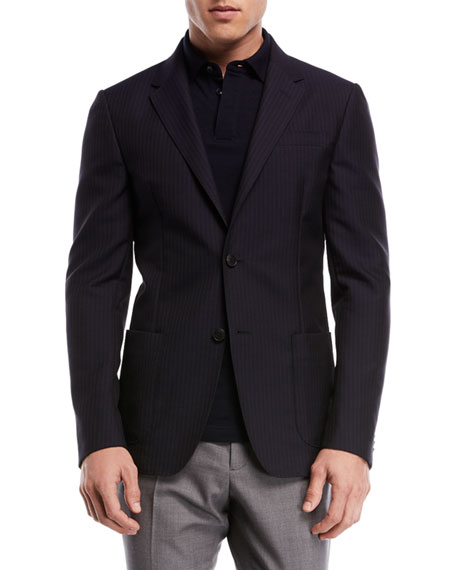 Cannette Striped Wool Jacket
