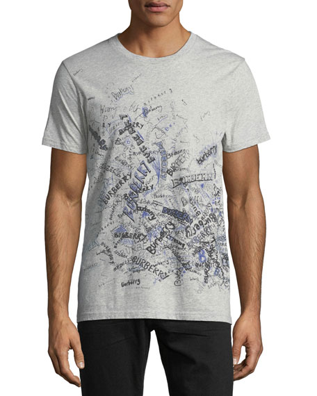 Burberry Logo Scribbles Graphic T-Shirt