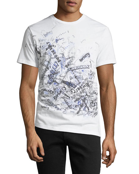 Squiggles Graphic Cotton T-Shirt