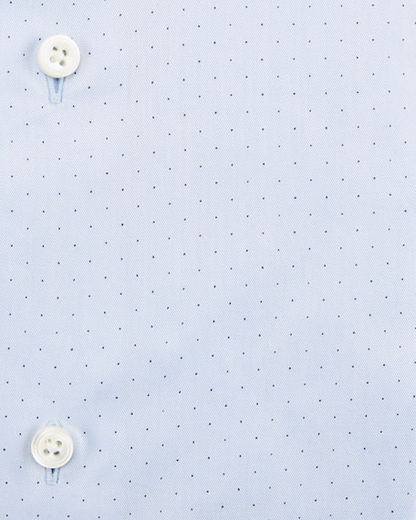 Micro Dot-Print Dress Shirt