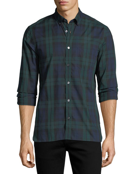 Burberry Salwick Check Cotton Sport Shirt