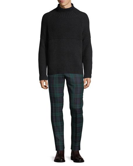 Check Straight-Leg Wool Pants