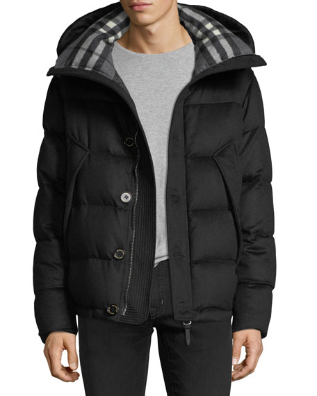 Waterman Cashmere Down-Filled Short Parka