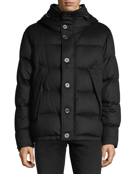 Burberry Waterman Cashmere Down-Filled Short Parka