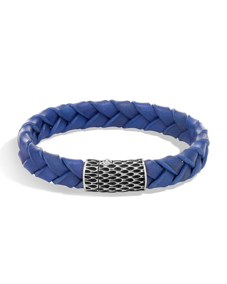 John Hardy Men's Legends Woven Leather Bracelet, Blue