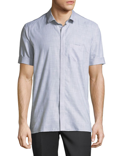 Roll-Cuff Cotton Shirt